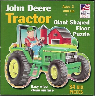 John Deere 6410 Tractor Puzzle, 34 Big Pieces, Giant 3' x 2' Shaped Floor Puzzle