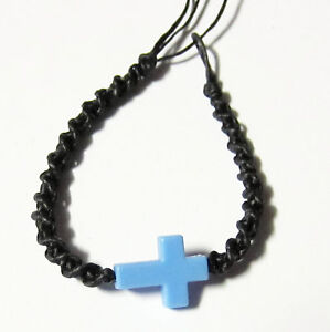 SMALL CROSS FRIENDSHIP BRACELET WRISTBAND COTTON ANKLET