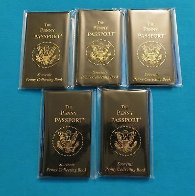 LOT OF 5 PENNY PASSPORT SOUVENIR ELONGATED ALBUMS NEW COLLECTOR BOOK
