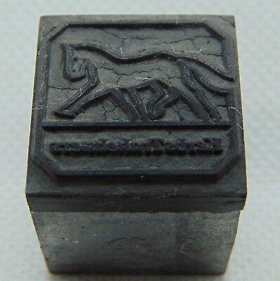 Vintage Printing Letterpress Printers Block Horse Kerbs Trakehner