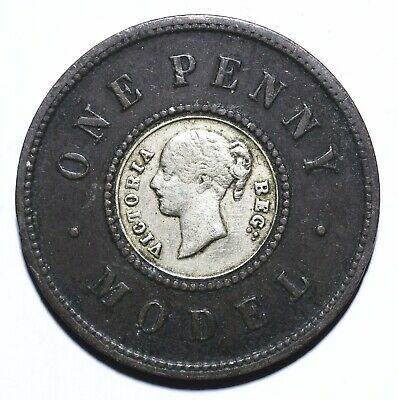 1844 UK One 1 Penny - Victoria Model - Lot 377