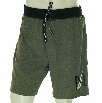 Nautica Men's Elastic waist Heathered Pajama Shorts Gray Navy Blue