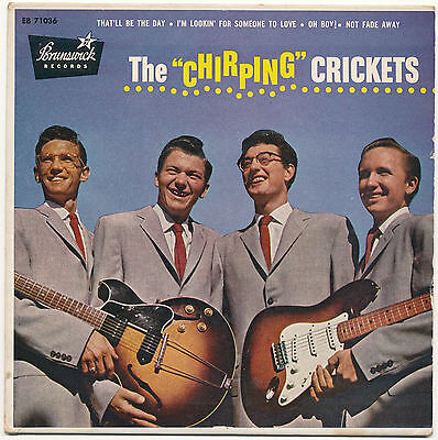 "7"" EP - The Crickets - The Chirping Crickets - Brunswick EB 71036 - US 1957"