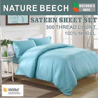 - Highest Quality 4pc Bedding Sheet Set Top Brand Beech 100% Modal Queen P-Green