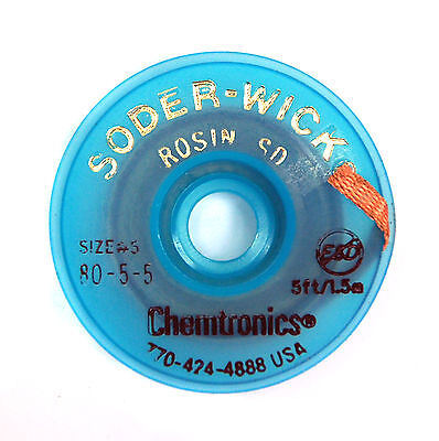 2 Roll 80-5-5 W 3.7mm Chemtronics Desoldering Wick Soder-wick Chemtronics Usa