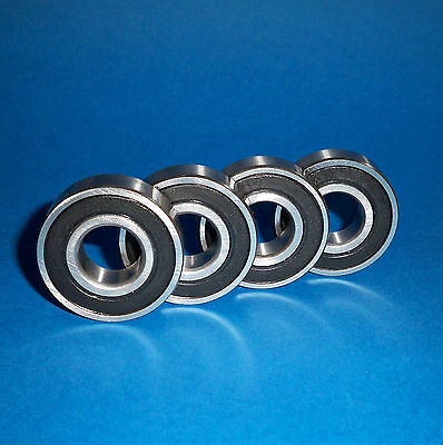 4 Kugellager 6001 2RS / 12 x 28 x 8 mm