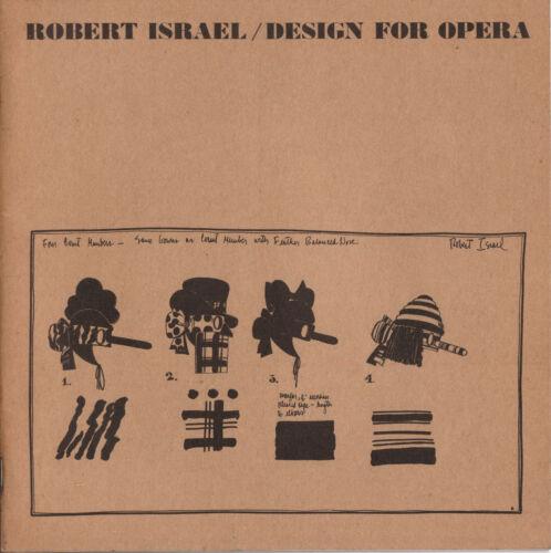 Robert Israel Design for Opera. Walker Art Center, Minneapolis, 1975