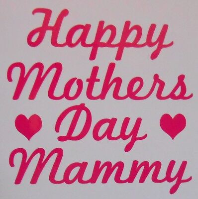 Happy Mothers Day Mammy Stickers Ideal for Glasses, Mugs, Cards, Crafts, - Crafts For Mothers Day