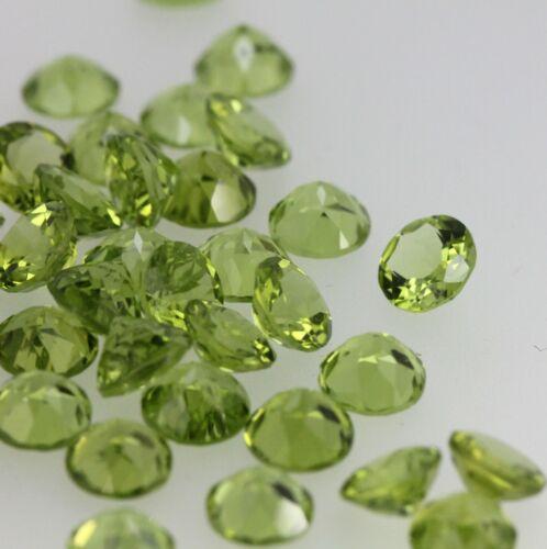 AAA Natural Vivid Green Peridot Round Cut 8x8mm Loose Gemstone