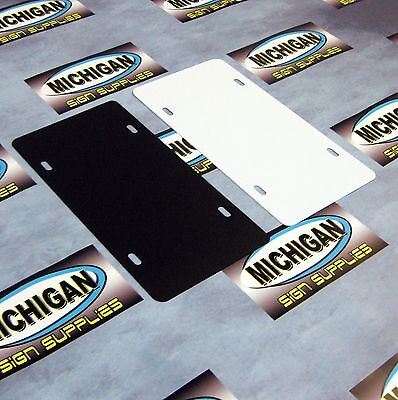 10 Pack Of Plastic License Plate Blanks 050    Create Your Own Designs