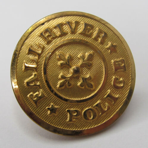 Vintage Fall River, MA, Police Button - Brass, Made By Superior Quality