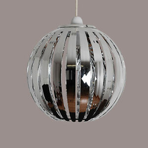 Modern Acrylic Chrome Round Sphere Ceiling Light Pendant