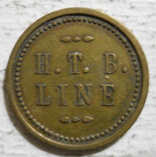 Hill Top Bus Line (Beaver Falls, Pennsylvania) transit token - PA65N