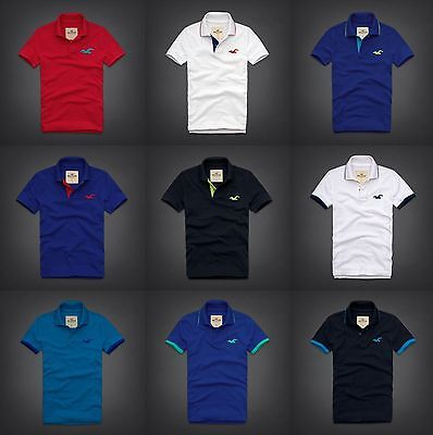 Nwt Hollister By Abercrombie   Fitch Mens  Polo Shirt T Shirt All Size