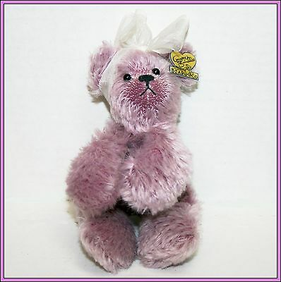 Annette Funicello Collectible Teddy Bear Purple Lavender Plush Stuffed Animal ..