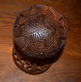 Hand carved Coconut Tealights