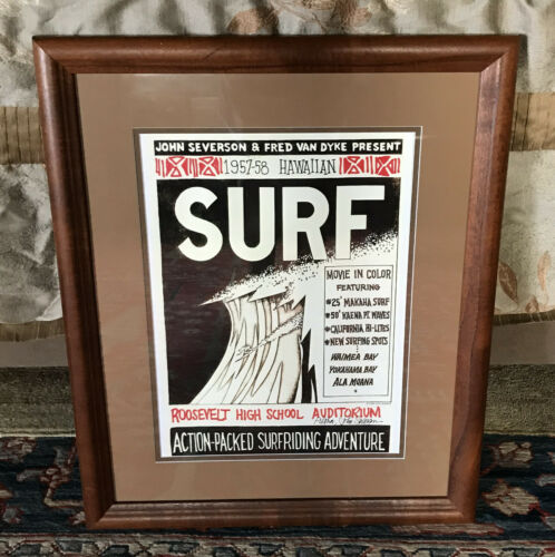 Poster for John Severson SURF His First Movie in 1958 Hawaiian Surfing