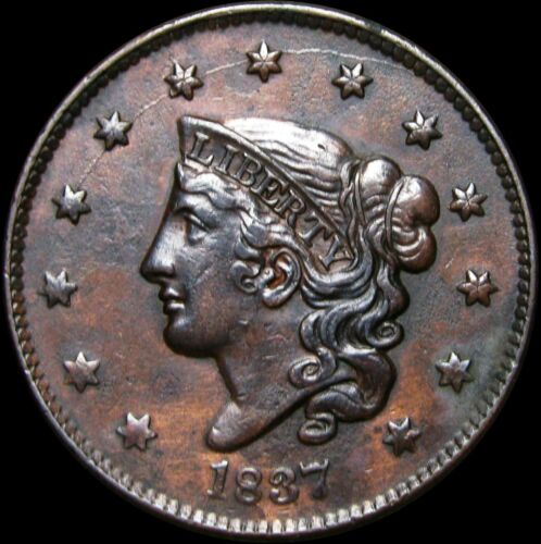 1837 Coronet Head Large Cent Penny ---- Type Coin STUNNING L@@K ---- #B207