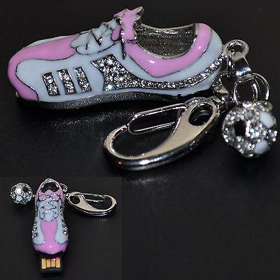USB Stick 8 GB Schuh Fußballschuh Fußball Sneaker PINK Schlüsselanhänger