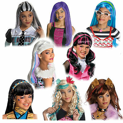 Child Monster High Frankie Draculaura Clawdeen Lagoona Cleo Hair Costume Wig](Monster High Draculaura Wig)