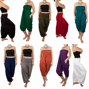 HAREM-2-in-1-COTTON-TROUSER-and-JUMPSUIT-GENIE-PANTS-YOGA-ALI-BABA