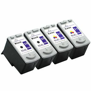 4-pk-Canon-PG-30-CL-31-ink-cartridge-For-PIXMA-MX310-MP210-MP190-MP210-Printers