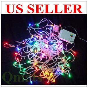 30FT = 10M LED Multi-color Christmas Wedding Light  Wire String 8 FUNCTION Party