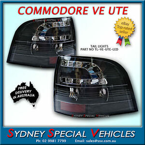 LED TAIL LIGHTS FOR VE COMMODORE UTE BLACK ALTEZZA  FOR OMEGA SS SV6 HSV MALOO