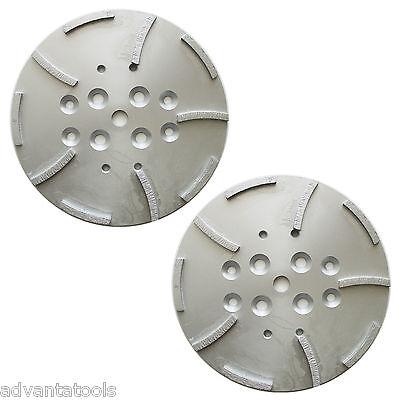 2pk 10 Concrete Grinding Head For Edco Blastrac Grinders - 10 Seg 5060 Grit
