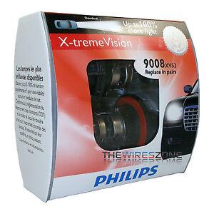 Philips-X-treme-Vision-H13-9008-100-More-Light-60-55W-Car-Headlight-Bulb-pair