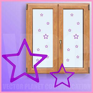 adesivi 16 pz stelline stelle stickers vetri muri mobili finestre addobbi feste