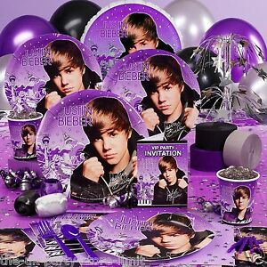JUSTIN-BIEBER-Birthday-Party-invites-plates-cups-napkins-balloons-and-more