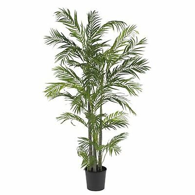 Decorative Natural Looking Artificial 5' Potted Faux Areca Palm Silk Tree Plants