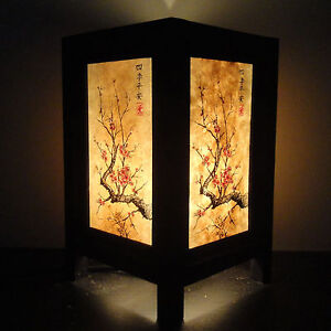 Asian Oriental Japanese Cherry Blossom Tree Art Bedside Desk Table Lamp Shades