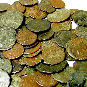 Rare New Lot Genuine Ancient Roman Coins Cleaned Nice  Low price From Europe!