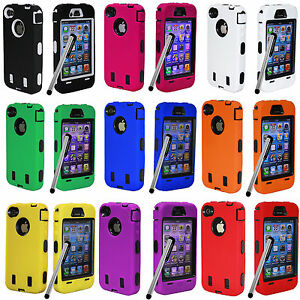 1-x-Deluxe-HEAVY-DUTY-HARD-CASE-COVER-SKIN-with-Screen-Protector-iPHONE-4-4S-4G