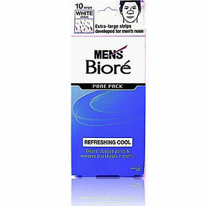 MENS-Biore-Nose-Pore-Pack-Extra-Large-Strips-Refreshing-Cool-10-Strips