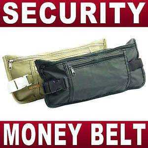 Security-Money-Belt-Travel-pouch-Wallet-Waist-Bum-bag-passport-holder-safe-NEW