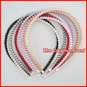 PEARL-HEADBAND-ALICE-BAND-MORE-COLOURS-Hair-Head-Accessories-NEW