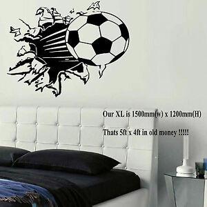 Extra Large Football Ball Wall Art Bedroom Mural Sticker Transfer Poster Decal Ebay