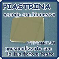 Piastrina Acciaio Cromato Personalizzato Con Fotoincisione -  - ebay.it