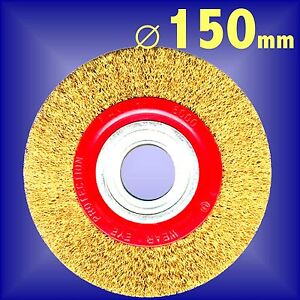 Silverline-150mm-6-Bench-Grinder-Wire-Wheel-grinding-rust-cleaning-polishing