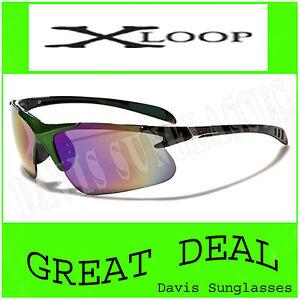 Mens-green-X-Loop-Sunglasses-XL46106-UV400-Davis-D4-cycling-running-shades