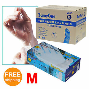 1000-Disposable-Powder-Free-Vinyl-Medical-Exam-Gloves-Latex-Nitrile-Free-3G-M