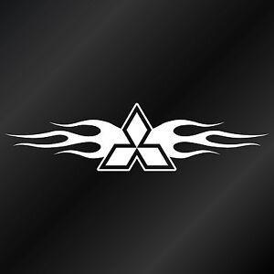 Mitsubishi Tribal Flames Logo Decal Sticker Suit Lancer