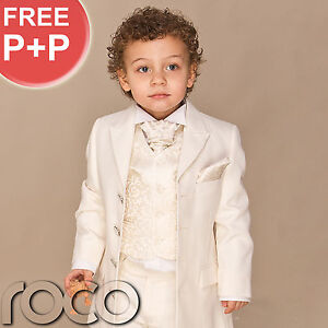 Boys-Ivory-4-piece-Prince-Edward-Formal-Prom-Wedding-Page-boy-cheap-suit-UK