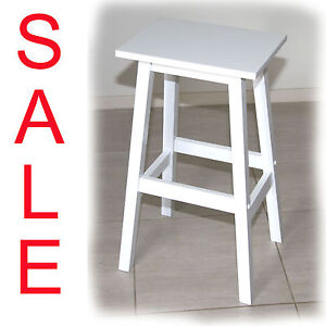 Kenny White Solid Hardwood Timber Bar Stool - 600mm  - BRAND NEW