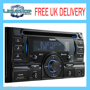 CLARION CX609E DOUBLE DIN BLUETOOTH CD USB MP3 IPOD HEAD UNIT STEREO RECIEVER