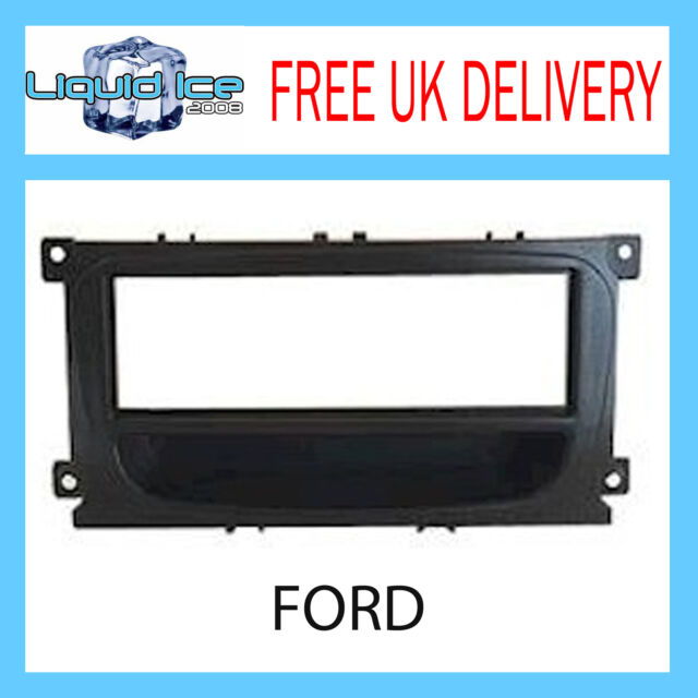 FP-07-12 FORD MONDEO 2007 ONWARDS BLACK FASCIA PLATE ADAPTOR PANEL SURROUND