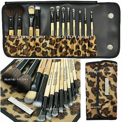 12 pcs Makeup Brush Set (African Leopard) & Eyebrow Pencil Lip Liner Gift #177L on Rummage